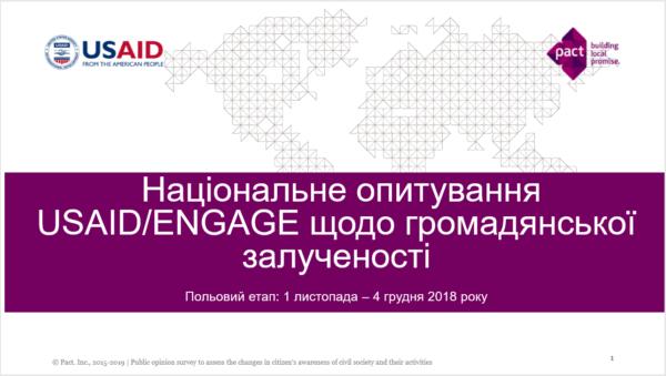 Громадський активізм та ставлення до реформ: суспільна думка в Україні (Листопад-Грудень, 2018)