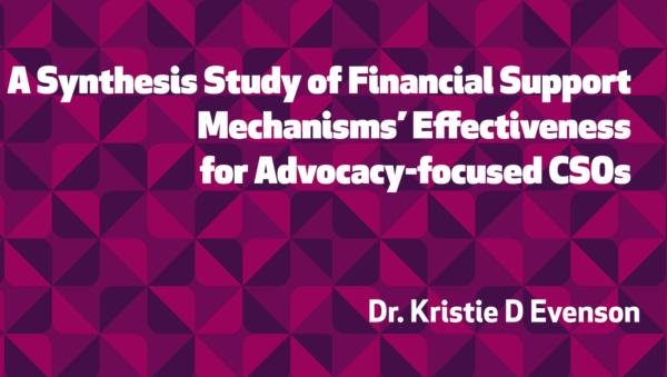 Зведене дослідження щодо ефективності механізмів фінансової підтримки для адвокаційних ОГС (англ.)